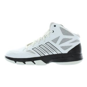 Mens White Cross 'Em 2 Basketball Shoes Sneakers